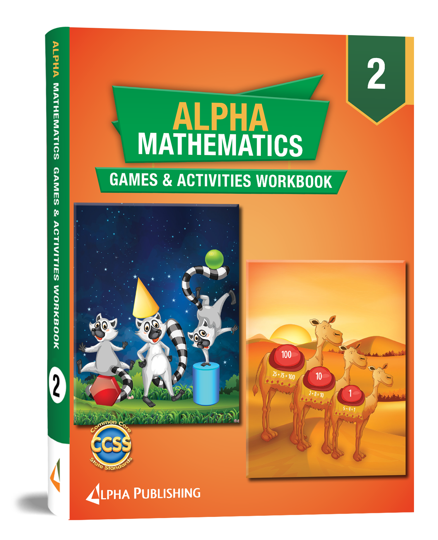 Alpha Math GR 2 Games and Activities Workbook