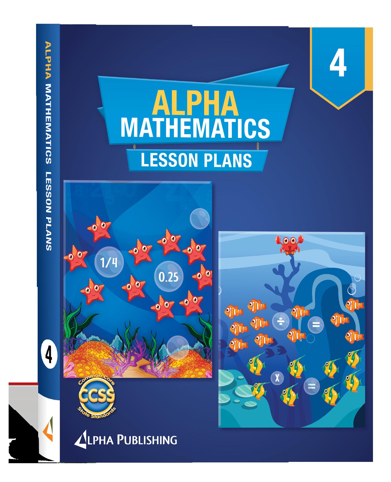 Alpha Math GR 4 Lesson Planner Book